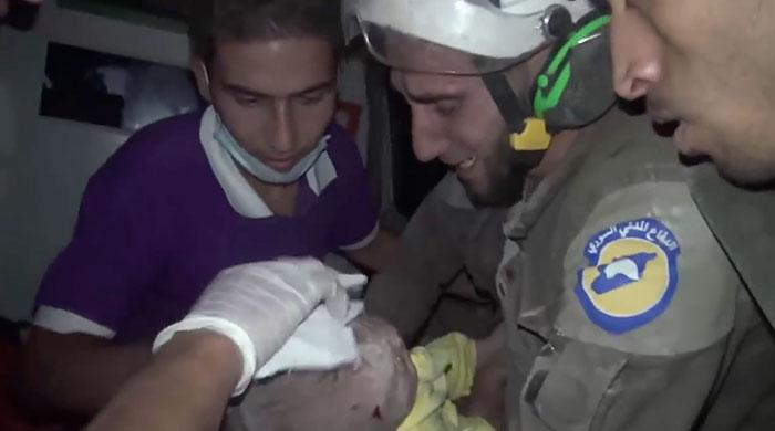 This video of a Syrian volunteer rescuing a baby will move you to tears
