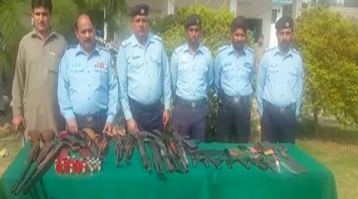 Police recover weapons, detain suspects in Islamabad