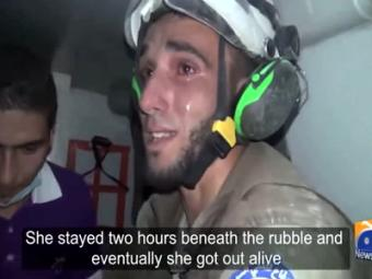 This Video Of A Syrian Volunteer Rescuing A Baby Will Move You To Tears,