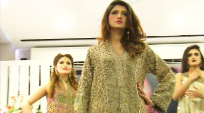Showbiz, fashion stars cat-walk for Karachi spa-salon opening