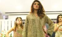 Showbiz, fashion stars catwalk for Karachi spa-salon opening