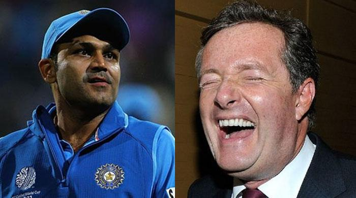 Journalist Piers Morgan corrects Sehwag's grammar on Twitter
