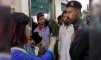 FC guard booked for slapping female reporter outside Nadra office