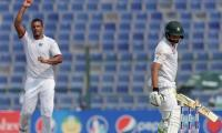 Abu Dhabi Test: Pakistan 205-3 at tea in second Test