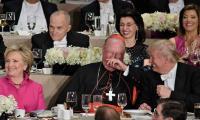 Tension as Trump, Clinton exchange barbs at annual charity dinner