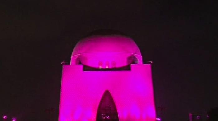 Mazar-e-Quaid goes pink in solidarity with breast cancer patients