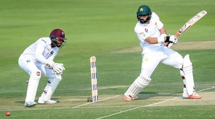 Pakistan reach 401-6 against West Indies