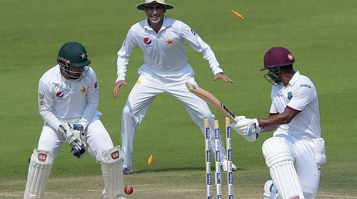 WI two down in response to Pakistan's 456-run target in second test