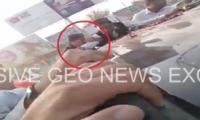 Video: PTI worker falls out of moving car part of Imran's entourage