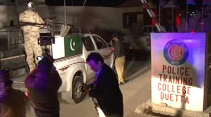 One security personnel martyred, two terrorists killed in attack on police training centre in Quetta