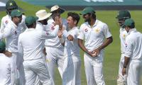 Pakistan five wickets from victory in second Test