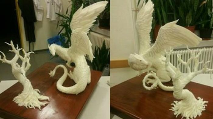 Australian chef crafts a 28 KG dragon out of margarine