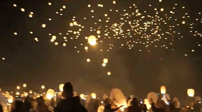 Breathtaking scenes of lantern festival in Austin