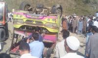 One killed, 32 injured in school bus accident in AJK