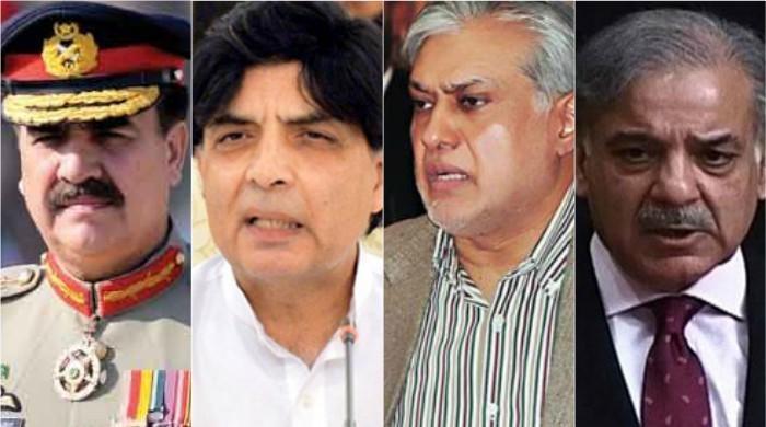 Senior PML-N leaders call on Army chief in Rawalpindi: ISPR