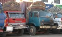 Container trucks en route to Rawalpindi stopped in Karachi