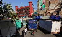 Roads leading to Lal Haveli blocked by containers