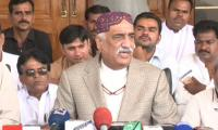 Khursheed Shah condemns arrest of PTI workers