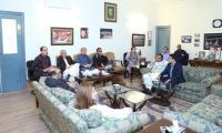 Imran chairs PTI meeting as FC, police deployed in Bani Gala