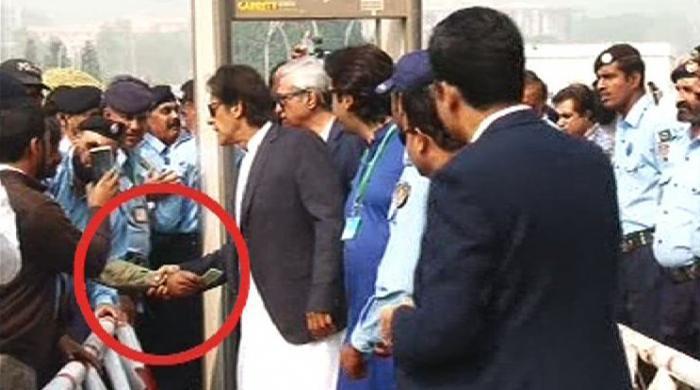 Man Seeks Imran Khans Help Outside Supreme Court