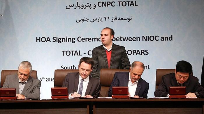 Iran signs major gas deal with France´s Total