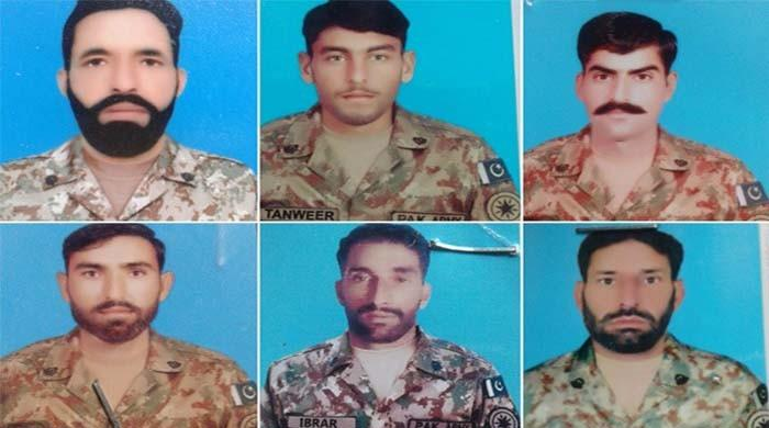 Seven Pakistani soldiers martyred in unprovoked Indian firing at LoC