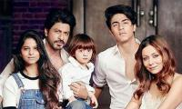 Abram makes his debut in the SRK family portrait