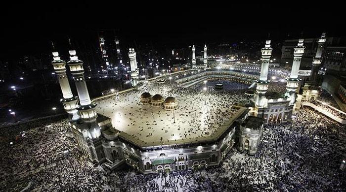 A rare glimpse of Kaaba's interior