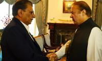 Prime Minister Azad Jammu and Kashmir calls on PM Nawaz Sharif