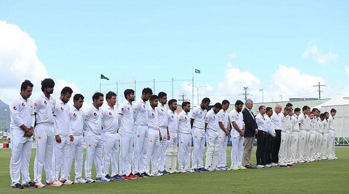 Pakistan cricket team observes silence in memory of PIA crash victims