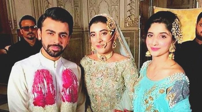 Urwa, Farhan say 'qubool hai' at Badshahi Mosque