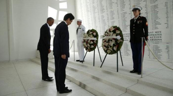On Pearl Harbor visit, Japanese PM pledges Japan will never wage war again