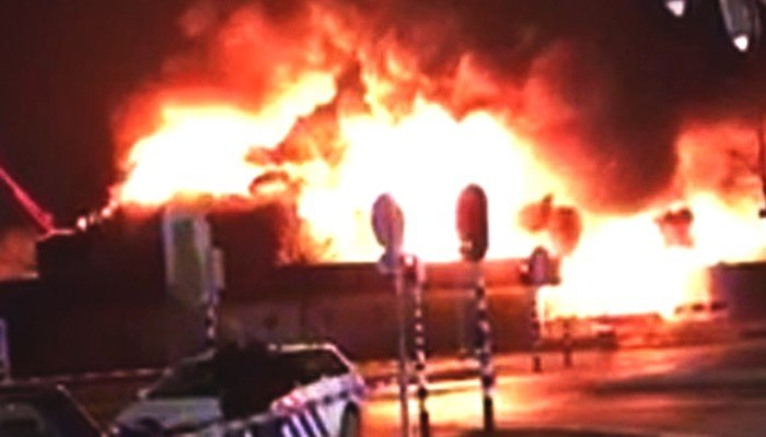 culemborg muslim Dramatic footage shows the moment emergency crews arrive to tackle the huge blaze at an islamic centre in the town of culemborg  for muslims in the area there .