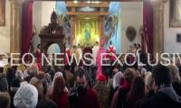 Muslims and Christians pray at Aleppo church in show of inter-faith unity
