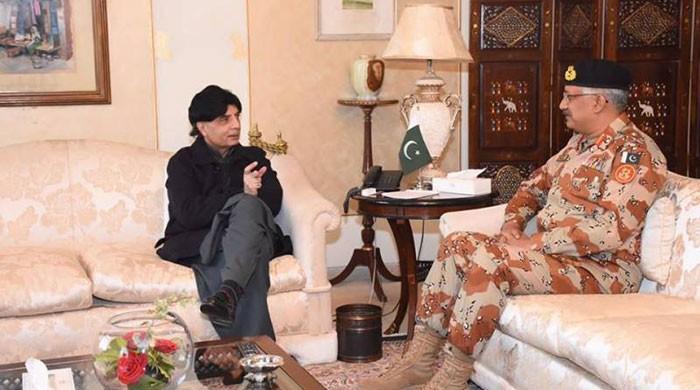 Interior Minister, DG Rangers discuss Karachi situation