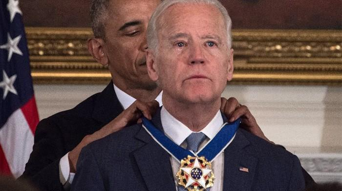 Obama surprises Biden with top civilian honour