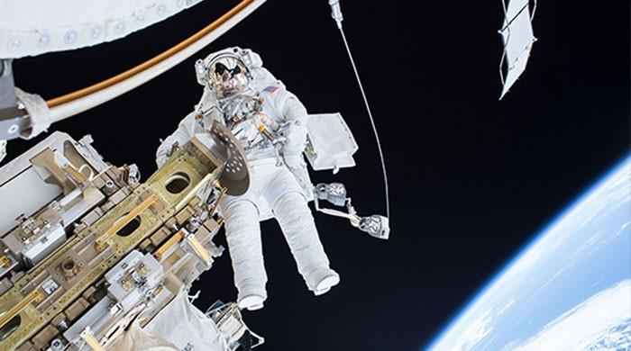 French, US astronauts install batteries outside space station