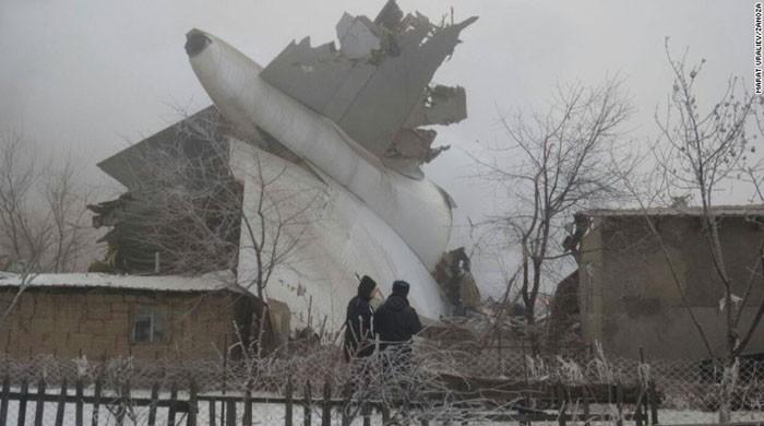 At least 37 dead as Turkish cargo plane crashes in Kyrgyzstan village