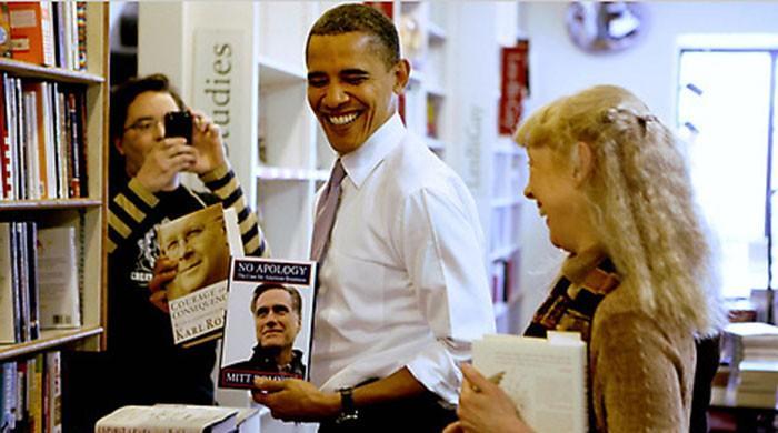 Obama says 'books' helped him sail through the White House