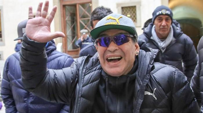 Maradona charms Naples on anniversary of first Serie A title