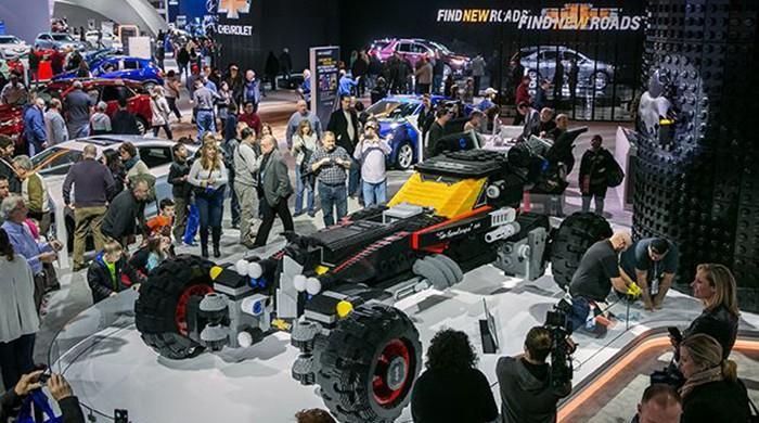 Chevy showcases full-size Batmobile made from lego bricks