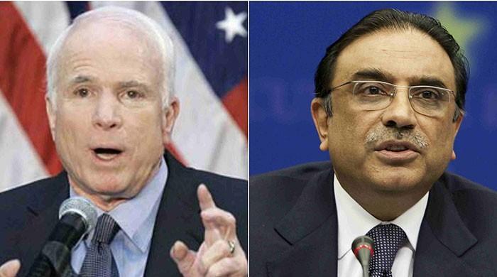 Zardari meets US Senator John McCain