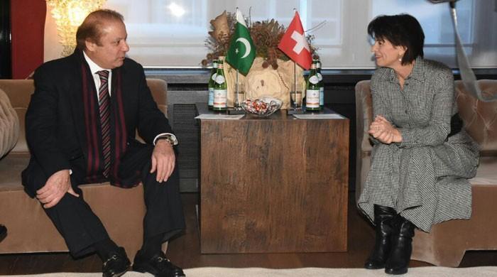 PM Nawaz meets Swiss President in Davos