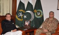 COAS Gen Bajwa assures AJK PM of Army's preparedness