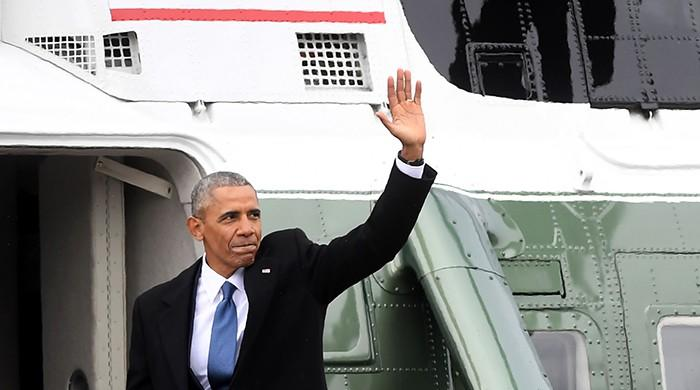 Former president Obama leaves Washington for California vacation