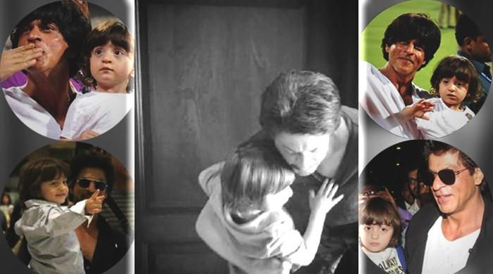 Little AbRam hugging SRK makes the Internet go 'aww'