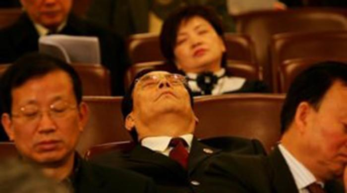 China officials punished for dozing in motivation meeting