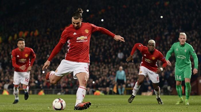 Hat-tricks for United's Ibrahimovic, Roma's Dzeko