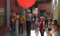 Palestinian refugee uses balloon and camera to create aerial map