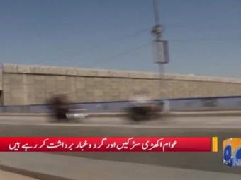 Public facing difficulties due to Green line bus service in Karachi